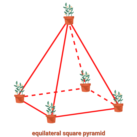 Solution for the classical 5 flowerpot problem